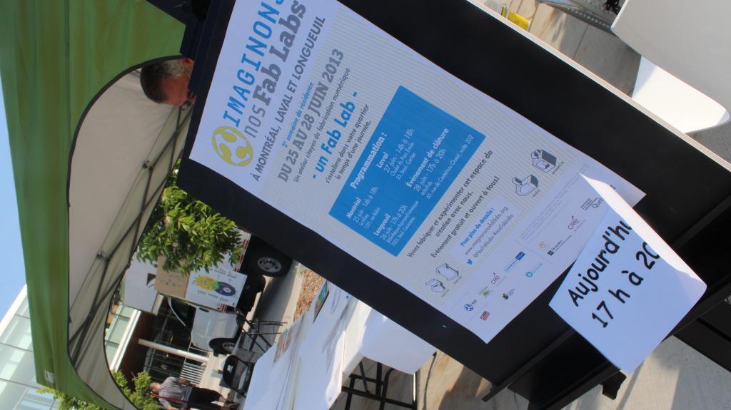 Démarche de résidence Imaginons nos Fab Labs à la bibliothèque Raymond-Lévesque 26 juin 2013