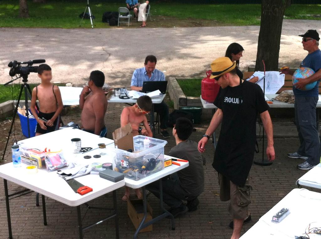 Résidence Imaginons nos Fab Labs au Parc Émile à Laval le 27 juin 2013