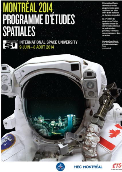 Fig.10 - French poster of the SSP2014 from ISU, organized by ÉTS and HEC Montréal that will be held in Montreal from June 9th to August 8th 2014. Source [Img10].