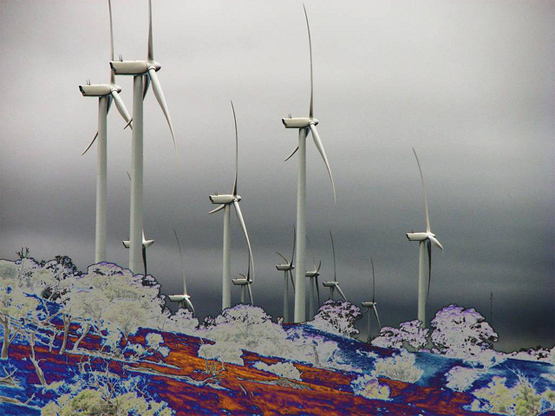 Pict 2. Artistic representation of the Waterloo Wind Farm about 30km SE of Clare in Mid North South Australia. Source [Img3].