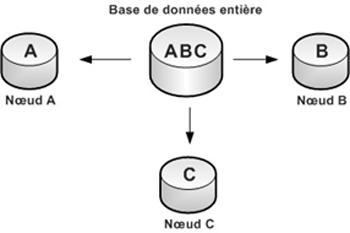 Figure 4: Bases de données distribuées partitionnées. Source [Img4].