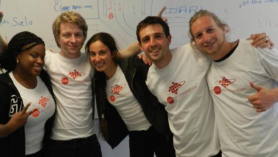 Une des équipes de l'Université d'Aarhus au Danemark composée de Simon Castonguay, Martine Blouin et Bettina Thimot de l'ÉTS