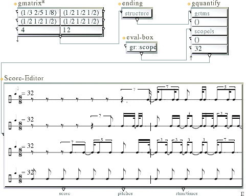 An example of the interface of the PWGL Visual Programming Language for Music and Sound Source [Img1]