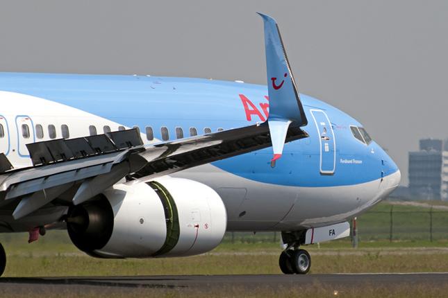 Figure no 2 : Ailette de bout d'aile sur un avion commercial (Boeing 737).