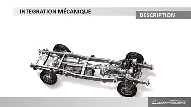 Représentation du système de propulsion thermique queremplacera le système de propulsion électrique