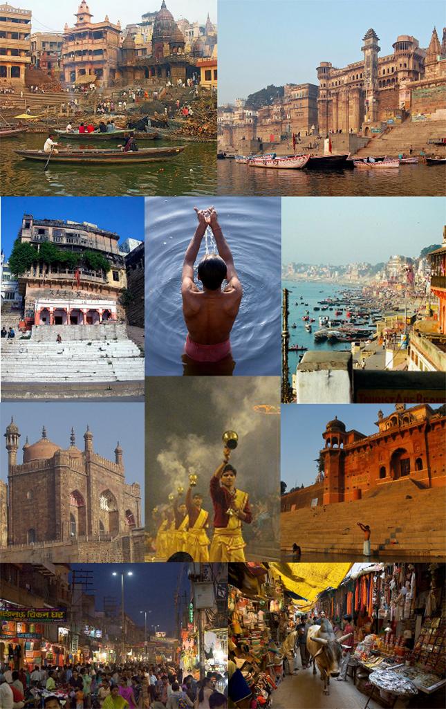 La ville de Varasani est, selon Wikipeédia, « de l'État indien de l'Uttar Pradesh. Située sur la rive gauche du Gange, la ville est considérée comme l'une des villes les plus anciennement habitées du monde1. Dédiée principalement à Shiva, elle est la cité qui accueille le plus de pèlerins en Inde, et, fait partie des sept villes sacrées de l'hindouisme. »