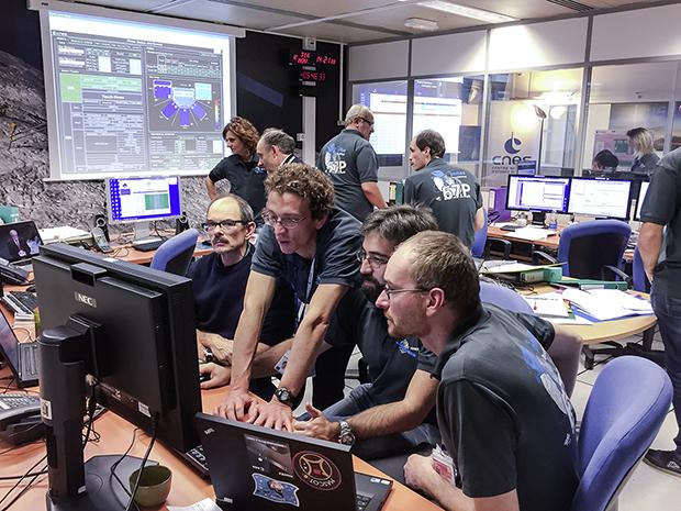 SONC (CNES, Toulouse), le mercredi 12 novembre 2014, pour l'atterrissage de Philae sur le noyau de la comète 67P. Crédits : CNES/G.Cannat.