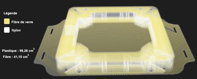 Modélisation de la structure interne du châssis