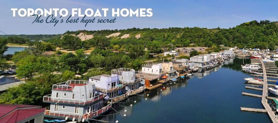 Site de maisons flottantes en Ontario, Canada (dans la ville de Toronto)
