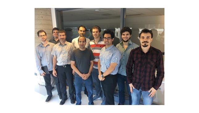 L'équipe de Spark Microsystems qui est hébergée au Centech