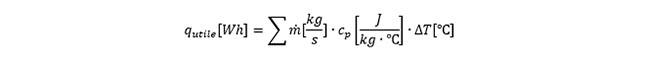 L'équation afin de calculer le rendement d'un capteur solaire.
