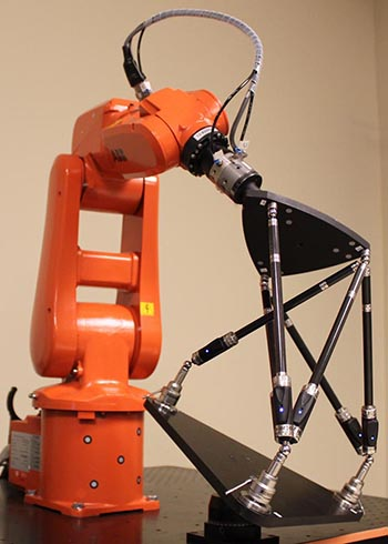 A Renishaw telescopic ballbar can be used to improve accuracy in robots