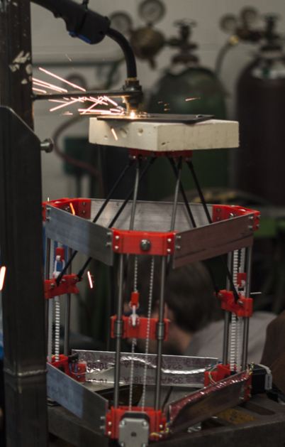 A new 3D metal printer in action in Michigan Technological University
