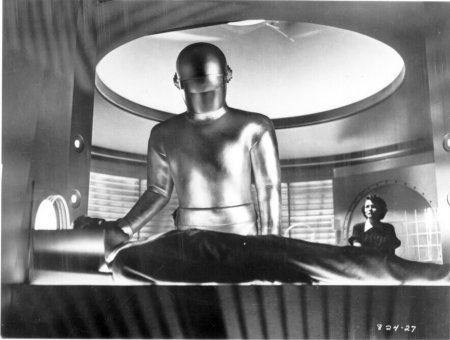 """Gort, the robot from the movie """"The day the earth stood still in 1951. Source [Img2]"""