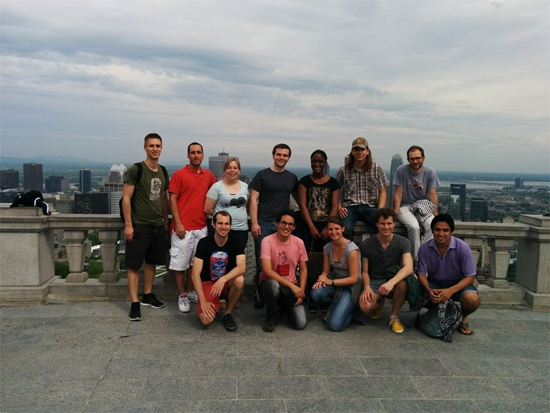 International participants and sponsors of the ETS during a visit to Montreal.