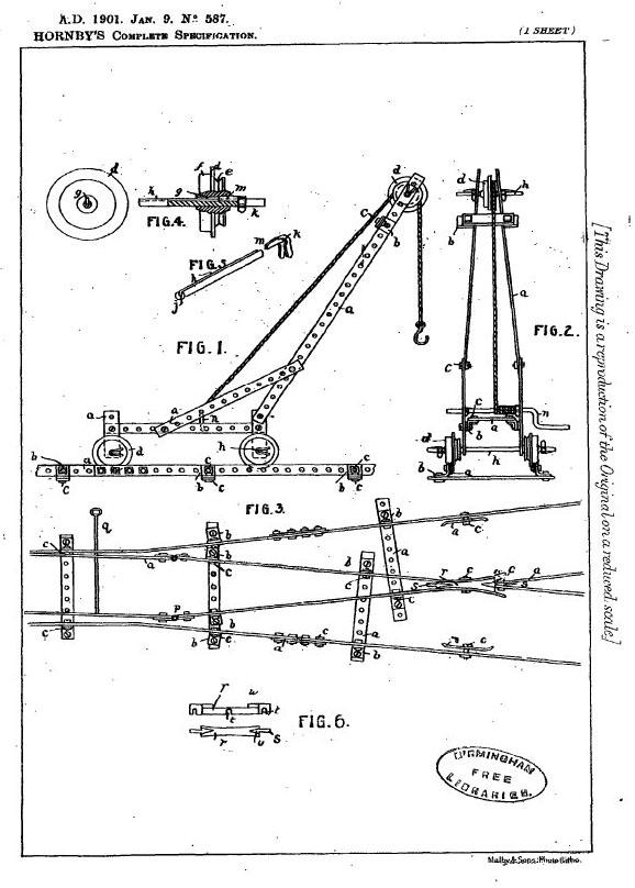 Image du brevet Meccano en 1901