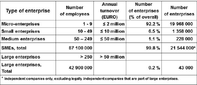 europe company size