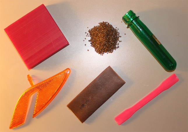 Figure 1 – Plastic objects produced by traditional processing techniques