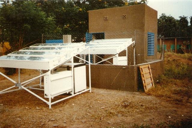 Fig. 10 Solar refrigerator for vaccine used in Burkina Faso