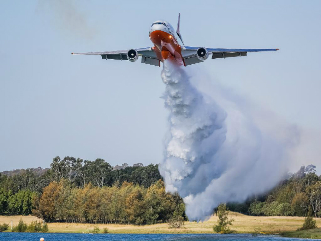 """DC-10 """"Southern Belle"""" on demonstration this year in South Hampton State, Australia."""