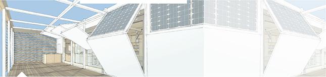 storm shutters design for hurricane and flood proof autonomous house