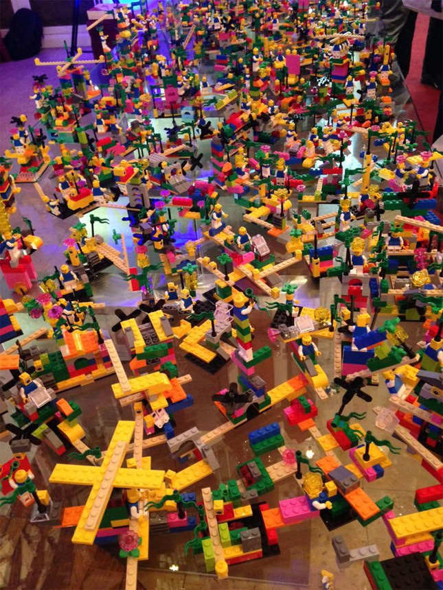 LEGO SERIOUS PLAY three-hour workshop result with nearly 600 people