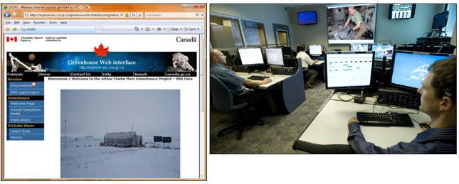 Système de gestion de données de l'Université Simon Fraser pour la serre Arthur Clarke