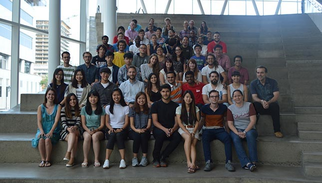 Students of the second edition of the Summer School of the ETS in the company of teachers and managers of the course