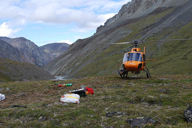 Michel Baraër evaluates hydric ressources in Yukon and the impact of loss glacier mass