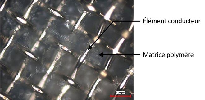 Image d'un joint obtenu au moyen de soudage par résistance