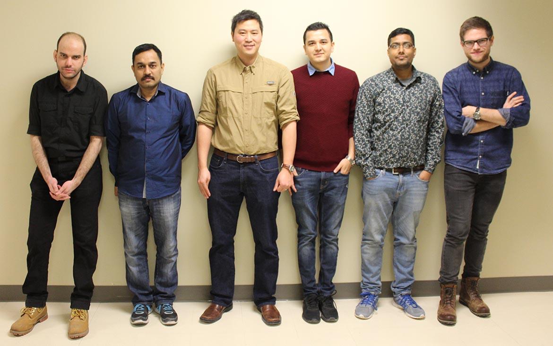 Équipe du laboratoire de photonique innovante de l'ÉTS