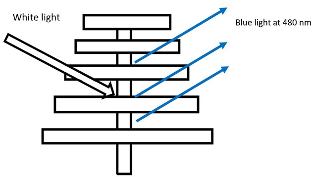 How is the structural blue created?