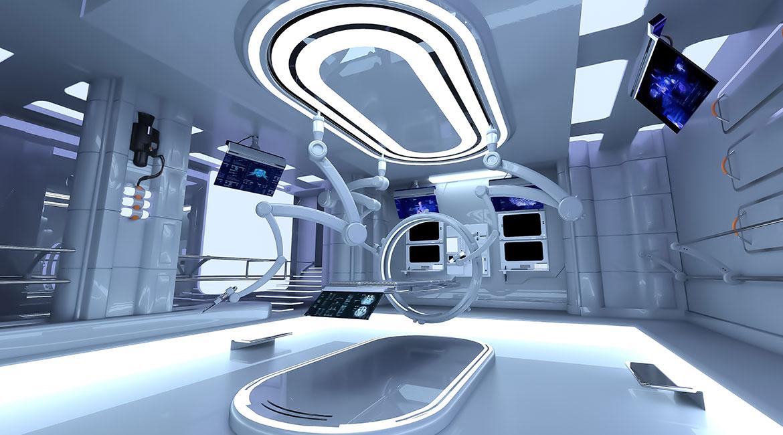 Futuristic surgery room