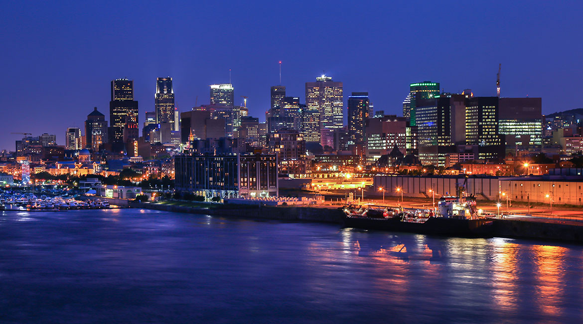 Downtown Montreal, by night