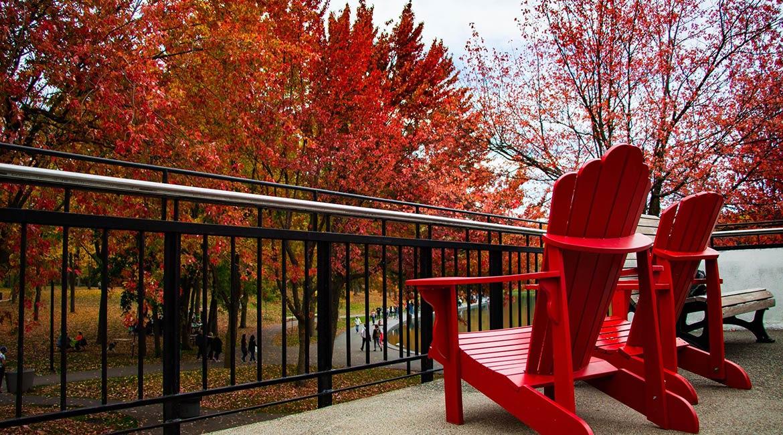 Montréal pendant la flambée des couleurs de l'automne