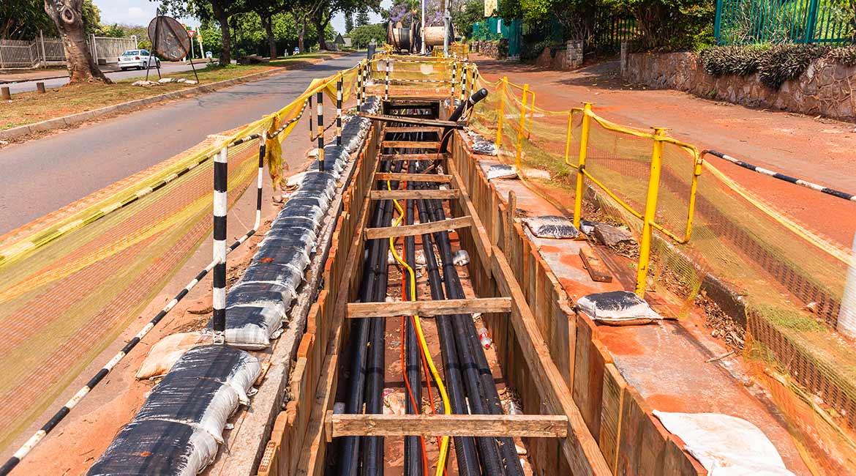 Câbles souterrains en polymère