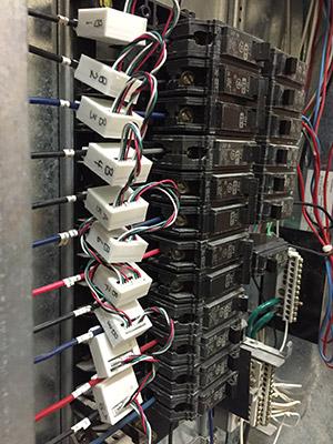 Capteurs du LACIME installés dans un panneau électrique