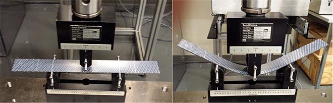 Tests using a MTS machine