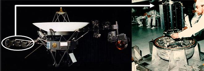 Dispositif thermoélectrique d'une sonde Voyager