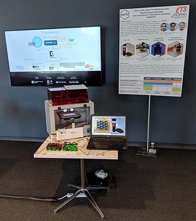 Kiosque d'Inktio au concours de l'ACFAS