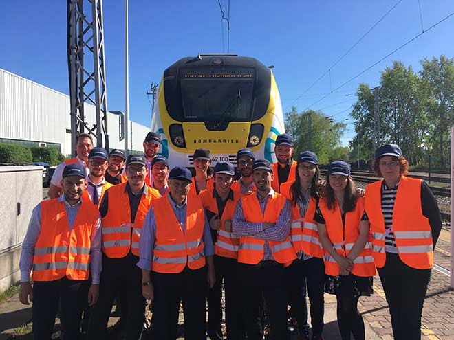 Visit of the L'ETS GO mission with Bombardier in Germany