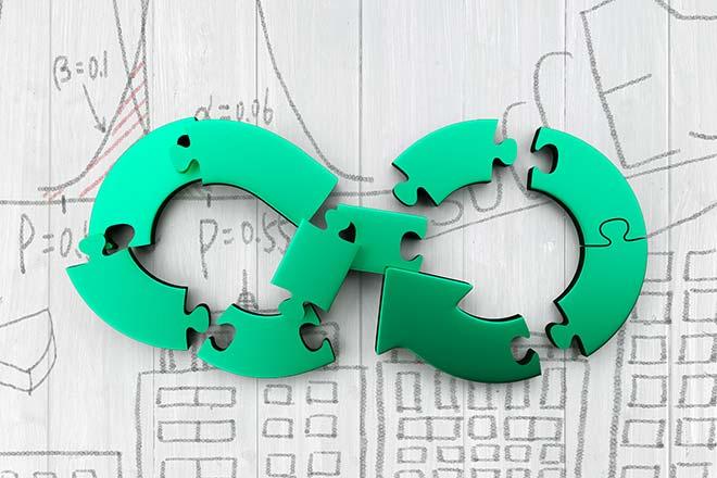 Économie circulaire intégrée dans l'industrie 4.0
