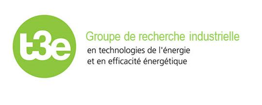 Logo Groupe de recherche industrielle en technologies de l'énergie et en efficacité énergétique, t3e