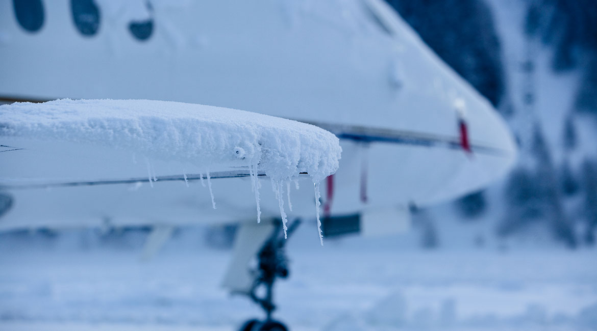 Ice on aircraft wings