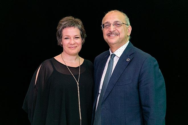 Mohamed Cheriet et Luce Beaulieu, respectivement directrice exécutive et directeur général du CIRODD