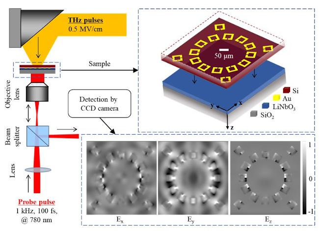 THz microscopy with a split-ring resonator