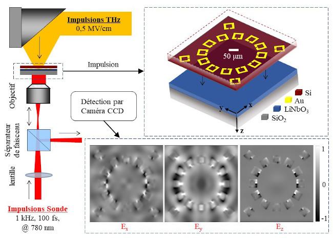 Microscopie THz au moyen d'un résonateur en anneau fendu