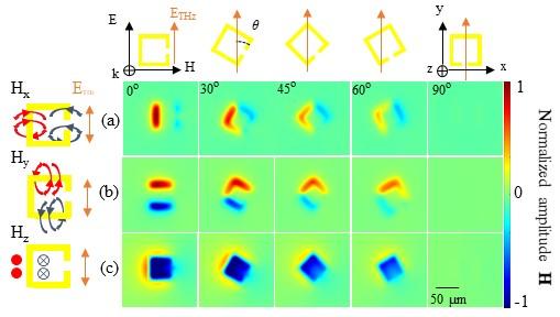 Characterizing novel magneto-optic materials using terahertz images