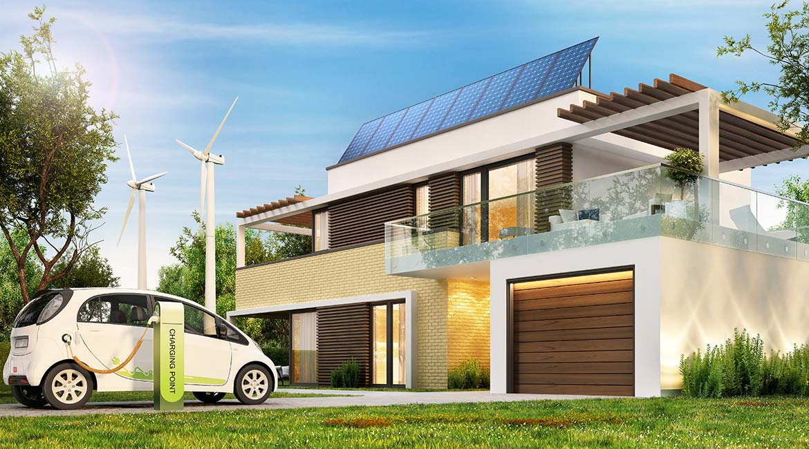 House powered with smart enery