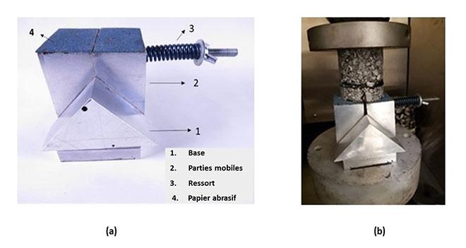 appareil pour élargir les craques dans le matériaux
